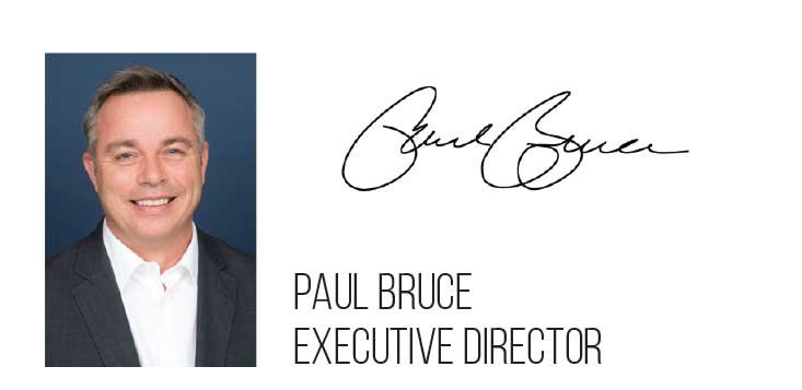 Picture and signature of Paul Bruce