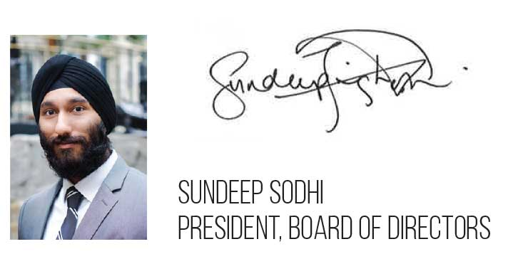 Picture and signature of Sundeep Sodhi